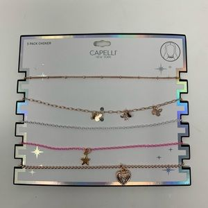 Capelli girls 5 pack choker necklaces NWT